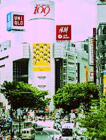 渋谷のスケボー集団